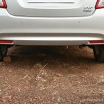 2017 Maruti Dzire rear bumper First Drive Review