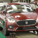 2017 Maruti Dzire red spotted in factory