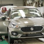 2017 Maruti Dzire spotted in factory front