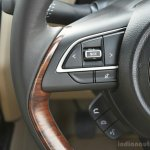 2017 Maruti Dzire steering controls First Drive Review