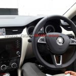 2017 Skoda Octavia (facelift) dashboard driver side spy shot