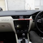 2017 Skoda Octavia (facelift) dashboard spy shot