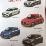 2017 Suzuki Swift colours