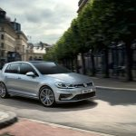 2017 VW Golf MkVII (facelift) front quarter R Kit launched in South Africa