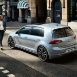 2017 VW Golf MkVII (facelift) rear three quarter launched in South Africa