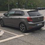 2017 VW Polo rear three quarters left side spy shot
