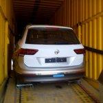 2017 VW Tiguan rear en route to Indian dealership