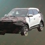 2018 Hyundai ix25 (2018 Hyundai Creta) facelift front fascia spy shot (2)
