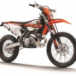2018 KTM 250 EXC TPI front three quarter