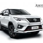 Amortriz body kit for the Toyota Fortuner TRD Sportivo front quarter launched Thailand