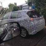 ASEAN-spec Toyota Yaris (facelift) rear three quarter spotted testing
