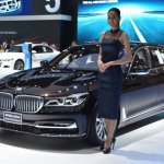 BMW 7 Series M760Li xDrive V12 Excellence front three quarters at BIMS 2017