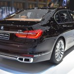 BMW 7 Series M760Li xDrive V12 Excellence rear three quarters at BIMS 2017