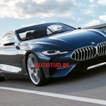 BMW 8 Series concept front three quarters leaked image