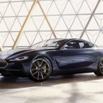 BMW 8 Series concept front three quarters left side leaked image