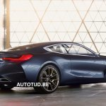 BMW 8 Series concept rear three quarters leaked image