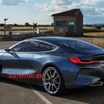 BMW 8 Series concept rear three quarters left side leaked image