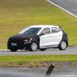 Fiat Argo front three quarters spy shot