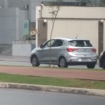 Fiat Argo rear three quarters left side undisguised spy shot