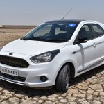 Ford Figo Sports Edition (Ford Figo S) front three quarters elevated view review