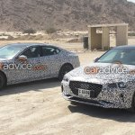 Genesis G70 (BMW 3 Series rival) front spied testing