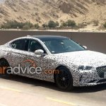 Genesis G70 (BMW 3 Series rival) front three quarter spied testing