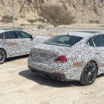 Genesis G70 (BMW 3 Series rival) rear spied testing