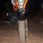 Honda Navi modified as KTM Duke 200 front wheel
