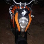 Honda Navi modified as KTM Duke 200 front