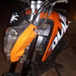 Honda Navi modified as KTM Duke 200 headlamp