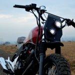 Honda Unicorn 150 Scrambler by Furious Customs headlamp