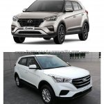 Hyundai Creta from Brazil vs Hyundai Creta (facelift) from China front quarter
