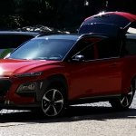 Hyundai Kona front three quarters Portugal spy shot