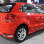 India-made VW Polo 180 TSI rear three quarter showcased at IIMS 2017