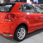 India-made VW Polo 180 TSI rear three quarter showcased at IIMS 2017