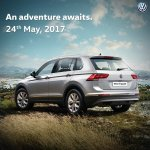Indian-spec 2017 VW Tiguan rear three quarters