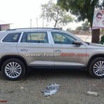 Indian-spec Skoda Kodiaq profile spy shot
