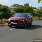 Jaguar F-Pace R-Sport SUV front quarter far Review