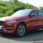 Jaguar F-Pace R-Sport SUV front three quarter Review