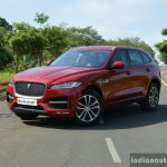 Jaguar F-Pace R-Sport SUV front three quarter far Review