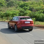 Jaguar F-Pace R-Sport SUV rear quarter far Review