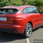 Jaguar F-Pace R-Sport SUV rear three quarter close Review