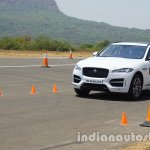 Jaguar F-Pace front three quarters in motion