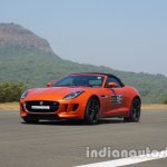 Jaguar F-Type Convertible front three quarters left side in motion