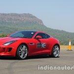 Jaguar F-Type red front three quarters