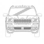 Jeep 7 seat SUV front patent image
