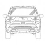 Jeep 7 seat SUV rear patent image