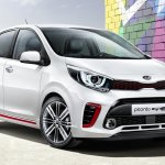 Kia Picanto GT-Line front three quarter view