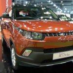 Mahindra KUV100 LHD-spec front showcased at Automobile Barcelona