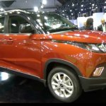 Mahindra KUV100 LHD-spec front three quarter showcased at Automobile Barcelona